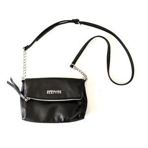 Kenneth Cole Reaction Black Leather Crossbody Bag